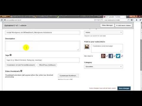 Upload Video on Youtube | Youtube Video Uploads