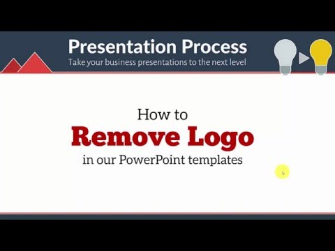 How to Remove LOGO in your PowerPoint Templates