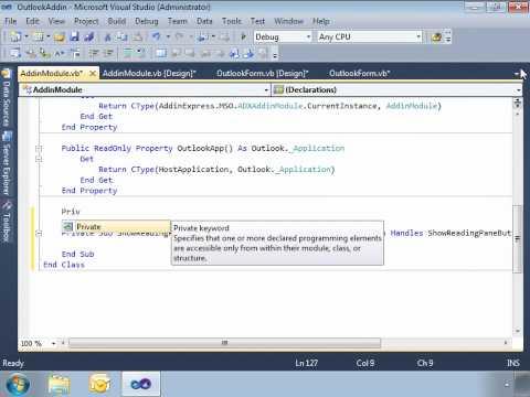 Create custom forms for Outlook Reading Pane (VB.NET, C#)