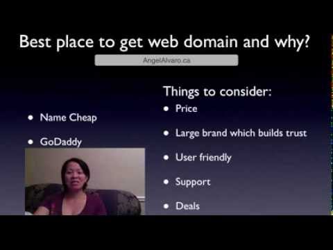 What is the Best Place to Get A Web Domain/Address And Why
