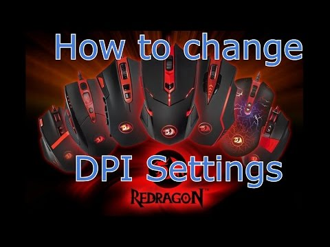 HOW TO  change the DPI settings on your Redragon