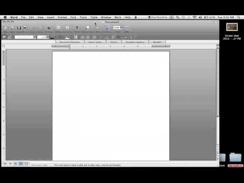 How to draw a table into Word 2008 for Mac