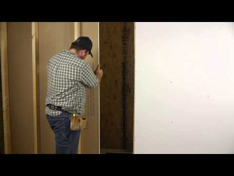 How to Cut Out Around a Doorway When Installing Drywall : Wall Repair