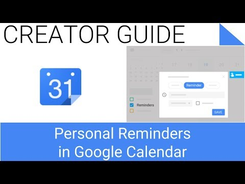 How to Create, Edit, Delete or Mark Personal Reminders as Done in Google Calendar