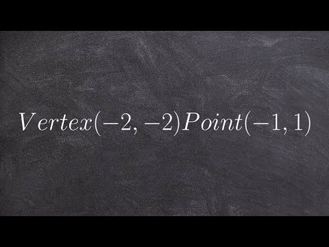 Given the vertex and a point find the equation of a parabola