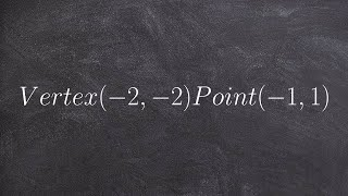 Pre Calculus Given The Vertex And A Point Find The Equation Of A Para