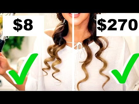 $8 CURLING IRON CURLS Vs.  $270 CURLING IRON CURLS TESTED 👍🏽 |  Hairstyles