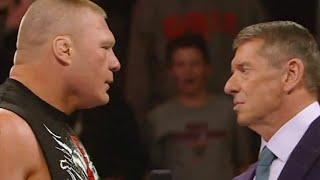 HUGE Brock Lesnar Vince McMahon Confrontation after WRESTLEMANIA 34 Raw WWE BREAKING News BACKSTAGE