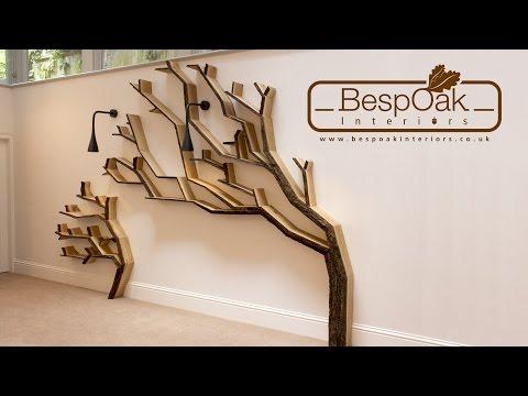 Building a Tree Bookshelf Wall Feature by BespOak Interiors