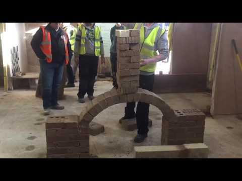 Brick arch collapses (slo-mo)