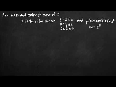 Mass and center of mass with triple integrals (KristaKingMath)