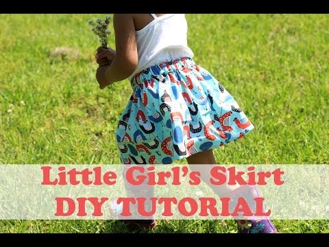 How to Make a Simple Girl's Skirt- Beginner Sewing