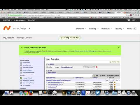 How to point one domain name at another domain or website