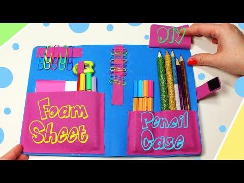 DIY Foam Sheet Pencil Case - Cute School Supplies