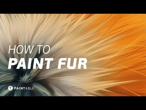 How to Paint Realistic FUR Textures (Digital Painting Walkthrough)