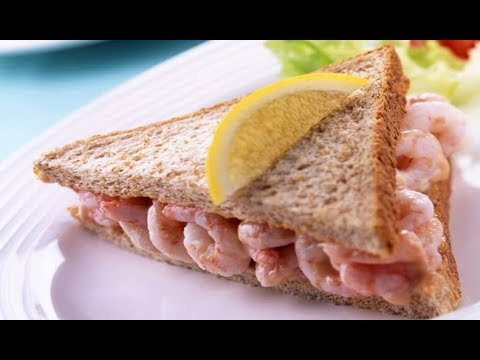 How to make Sandwich with prawns Home made