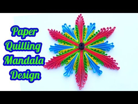 Paper quilling flowers with use of comb and paper quilling strips by art life# art 12