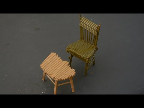 How to make Chair out of Toothpicks and Cardboard..!!
