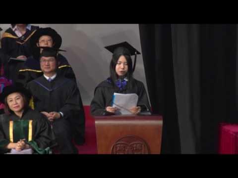 Student representative speech, BJC student, Angela Cheung An Chang at 2016 Graduation Ceremony