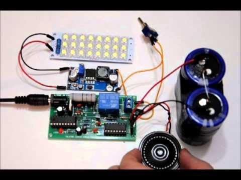 The Talking Super Capacitor Flashlight v1.0 - Includes 200f 2.7v bank + Booster + LED bank