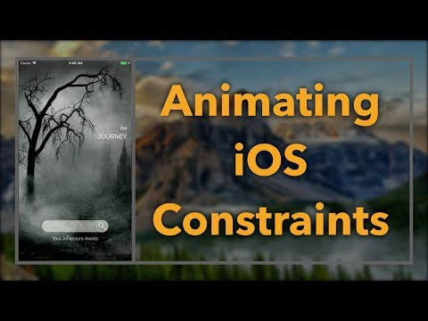 Constraint-Based Animations (iOS, Xcode 9, Swift 4)