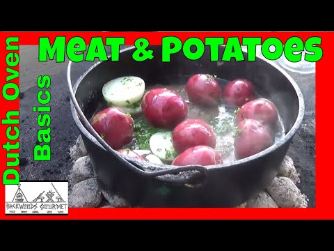 How to Cook in a Dutch Oven  Easy Dutch Oven Meat and Potatoes