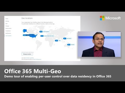 Introducing Office 365 Multi-Geo, giving you control over where your data is stored
