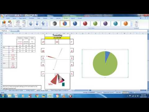 make analog watch in excel