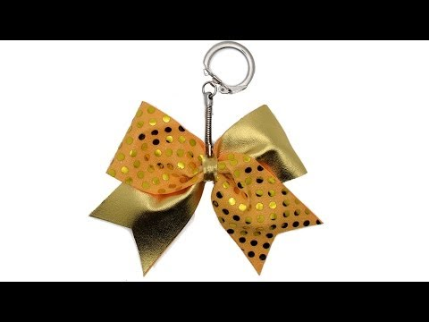 How To Make A Mini Cheer Bow Keychain Tutorial DIY