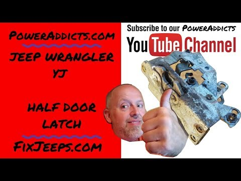Jeep Wrangler - Half Door Latch Removal and Reinstall