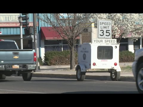 APD mobile speed trailer confuses downtown drivers