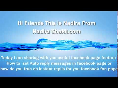 How to set auto reply messages  Facebook fan page|Instant replies for  Facebook pageI auto masseage