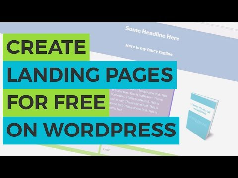 Create Landing Pages for FREE on WordPress