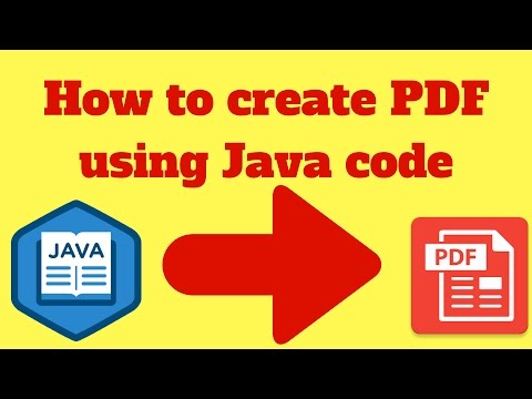 How to create pdf in java using itext