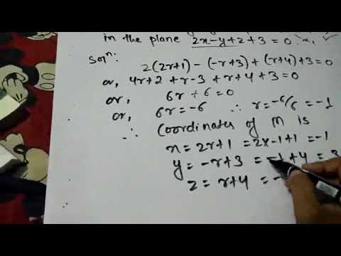 Finding Image Of A Point If A Plane Is Given | Straight Line | Engineering mathematics