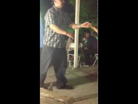 Andrea and my uncle dancing cumbia sonidera