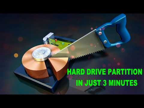 How to create Partition on Windows | Partition Hard Drives | Increase Partition Size