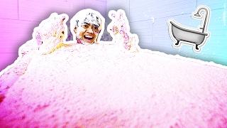 FLUFFY FLOAM SLIME BATH CHALLENGE!