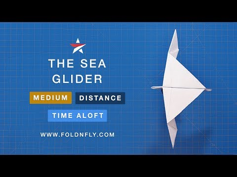 ✈ The Sea Glider - A Bird-Like Paper Airplane - Fold 'N Fly
