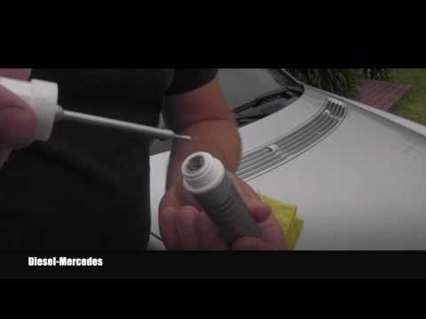 How to use touch up paint on Mercedes-Benz