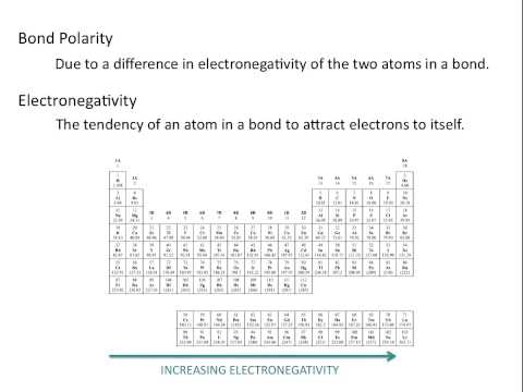 Electronegativity and Bond Polarity - Chemistry Tutorial