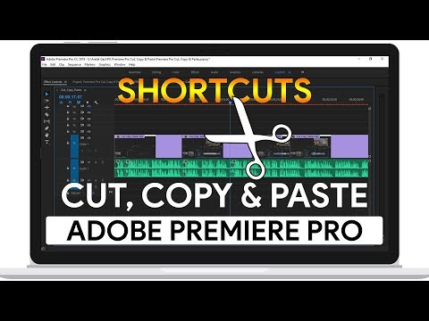 How to Cut, Copy & Paste Using Shortcuts | Adobe Premiere Pro CC Tutorial