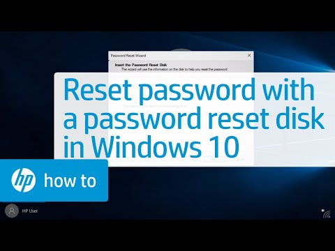 Resetting a Local User Account Password with a Password Reset Disk in Windows 10