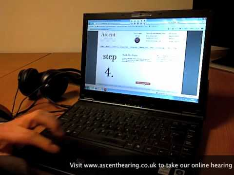 Testing your hearing on-line