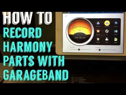 HOW TO: Record Harmony Parts with GarageBand - Ashley Davis//TheCrowdedPlate
