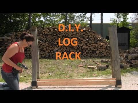 DIY Customizable Firewood Rack With The Stack-N-Store Log Rack Brackets