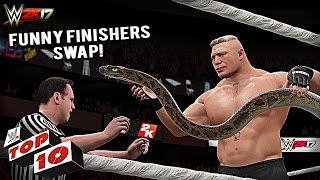 WWE 2K17 - Top 10 Finishers Swapping! Lesnar, Cena, Reigns, Orton & More (PS4 & XBOX ONE)