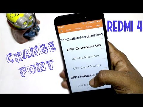 Redmi 4 Font change Hindi| android Buddy |