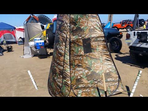 Beach DIY Port A Pottie Pop Up Tent Review How To Fold Setup