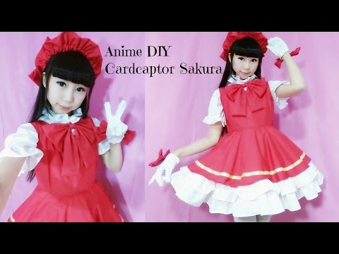 Anime Costume DIY – How to make Cardcaptor Sakura Costume + Hat (easy) - 魔卡少女樱 - カードキャプターさくら